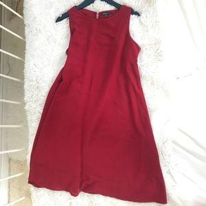 Mango loose dress in burgundy